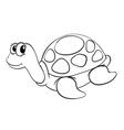 a tortoise sketch vector image vector image