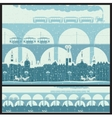 old town with bridges vector image