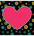 heart background vector image vector image