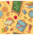 Back to school seamless pattern vector image vector image