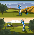 the golfer will hit the ball towards the hole vector image