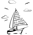 Yacht with the quote vector image