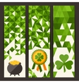 Saint Patricks Day vertical banners vector image