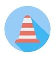 Road Cone single icon vector image vector image