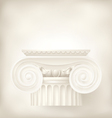 ionic capital vector image vector image