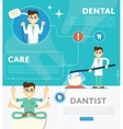 Set of dental infographics vector image