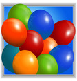 Colourful balloons 3D Panel vector image vector image