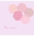Cute unique floral card vector image vector image