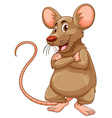 Mouse with brown fur vector image vector image
