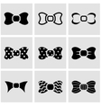 black bow ties icon set vector image vector image