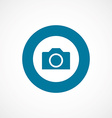 camera bold blue border circle icon vector image