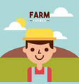 farmer farm person flat vector image