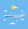 flying plane in a flat style vector image