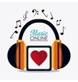 Music online and media design vector image