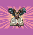 owl on an old book a symbol of wisdom and vector image
