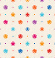 Retro seamless pattern Color stars and dots vector image