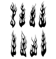 Set of black tribal flames for tattoo vector image