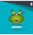 sleeping frog design vector image