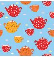 teapot and cups vector image