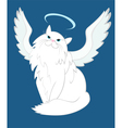 The Cat of Angelic Nature vector image