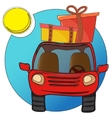 Traveling car vector image