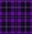 seamless purple black tartan - white stripes vector image