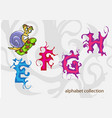 alphabet with mr snail vector image