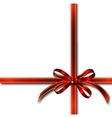 Red Gift Ribbon Over White vector image vector image
