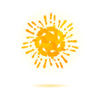 Sun made of handprint concept for your design vector image