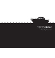 boat banner vector image vector image