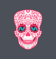 Mexican Detailed Skull vector image