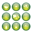 Set of winery sphere icons vector image vector image