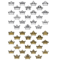 Antique crown icons vector image