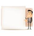 cartoon businessman sign vector image
