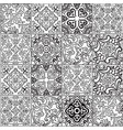ceramic tile with outline patchwork in spanish vector image