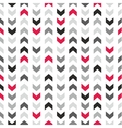 Tile pattern with grey and black arrows vector image