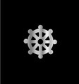 Wheel of Dharma- Symbol Buddhism vector image