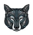 Ethnic ornamented dog or wolf vector image