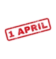 1 April Text Rubber Stamp vector image