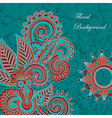frame ornate card announcement vector image vector image