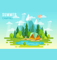 Summer camping graphic poster vector