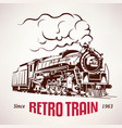retro train vintage symbol emblem label vector image vector image