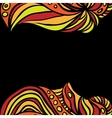 Abstract orange borders on black vector image