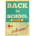 school poster vector image