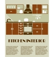 Modern brown kitchen interior design vector image