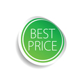sticker of best price green vector image