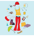 funky teen lifestyle vector image vector image