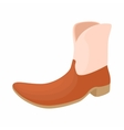 Brown leather female boots icon cartoon style vector image