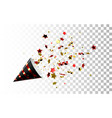 festive black and red party popper vector image