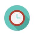 flat modern round watch icon vector image